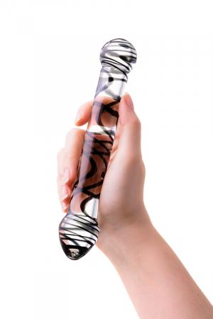 Нереалистичный фаллоимитатор Sexus Glass, Стекло, Прозрачный, 19,5 см
